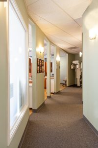 Dedham dental office hallway